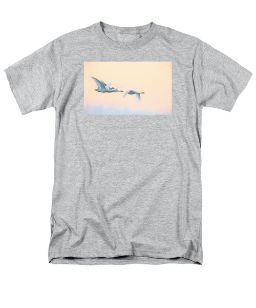 Men's T-Shirt  (Regular Fit) featuring the photograph Swan Migration  by Kelly Marquardt