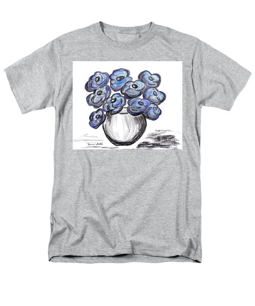 Sweet Blue Poppies Men's T-Shirt  (Regular Fit) by Ramona Matei