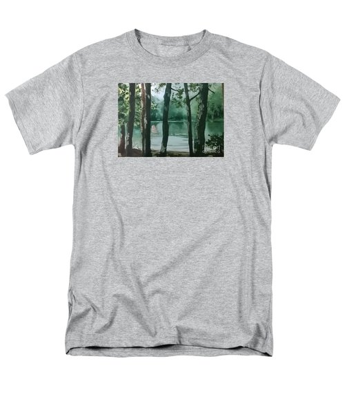 Men's T-Shirt  (Regular Fit) featuring the painting Swimming Hole by Elizabeth Carr
