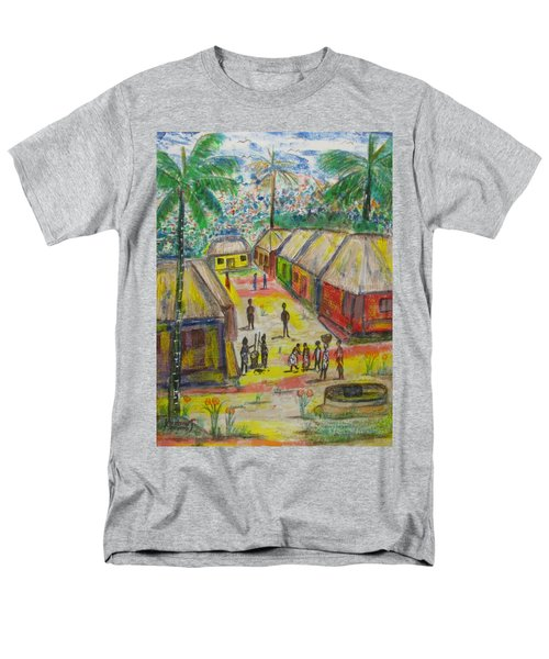 Men's T-Shirt  (Regular Fit) featuring the painting Artwork On T-shirt - 0012 by Mudiama Kammoh