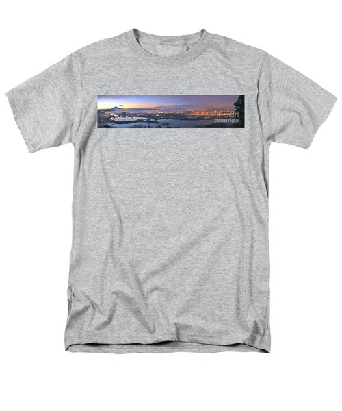 Men's T-Shirt  (Regular Fit) featuring the photograph Tacoma Dawn Panorama by Sean Griffin