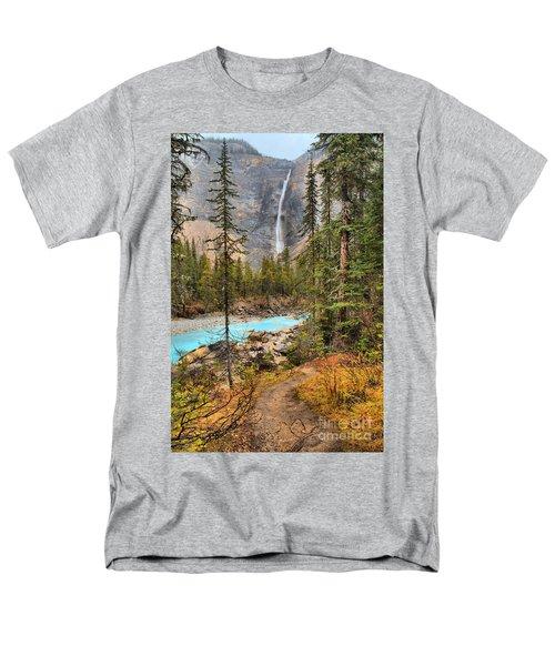 Men's T-Shirt  (Regular Fit) featuring the photograph Takakkaw Falls Fall Portrait by Adam Jewell