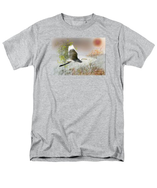 Men's T-Shirt  (Regular Fit) featuring the photograph Take Off by Gary Bridger