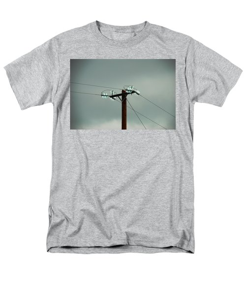 Telegraph Lines Men's T-Shirt  (Regular Fit) by Charlie and Norma Brock