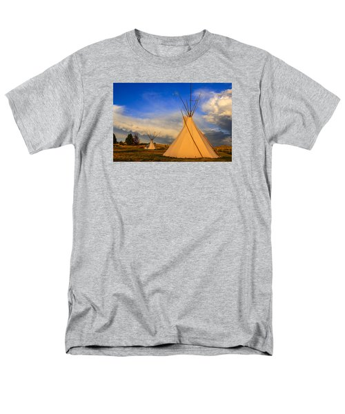 Tepees At Sunset In Montana Men's T-Shirt  (Regular Fit) by Chris Smith