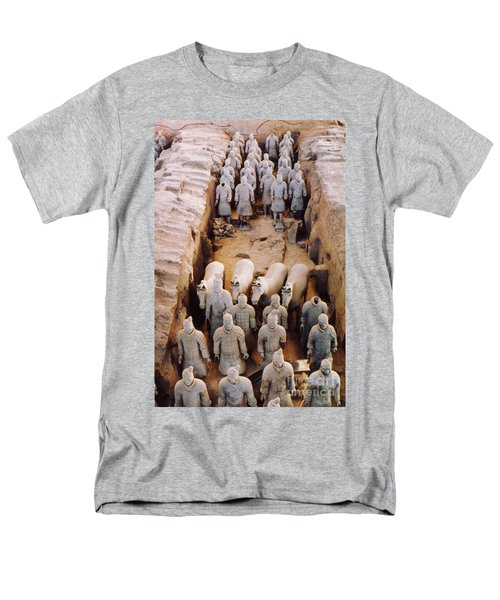 Men's T-Shirt  (Regular Fit) featuring the photograph Terracotta Army by Heiko Koehrer-Wagner