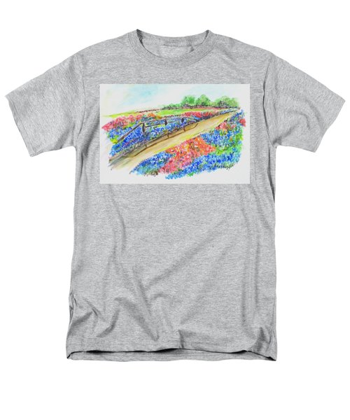 Texas Wild Flowers Men's T-Shirt  (Regular Fit) by Clyde J Kell