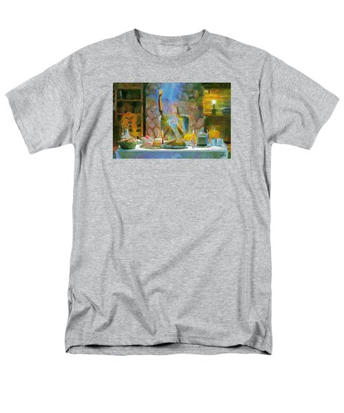 Men's T-Shirt  (Regular Fit) featuring the painting Thanksgiving by Wayne Pascall