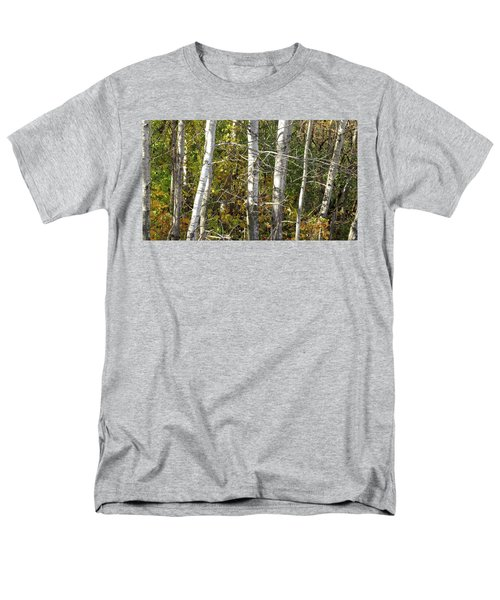 Men's T-Shirt  (Regular Fit) featuring the photograph The Birches by Kimberly Mackowski