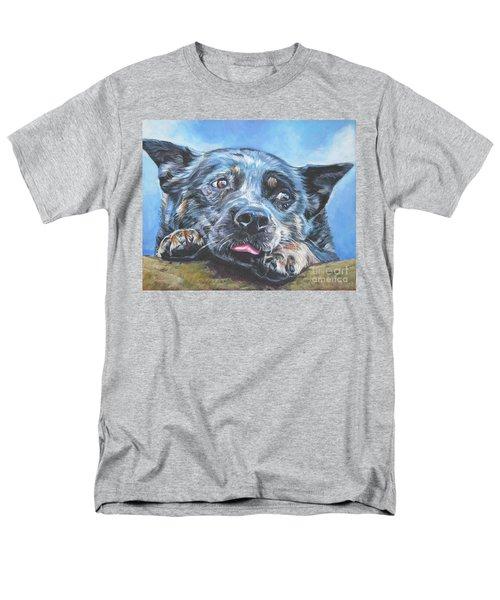 Men's T-Shirt  (Regular Fit) featuring the painting The Blue Heeler by Lee Ann Shepard