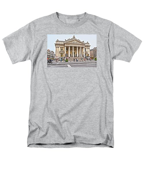 Men's T-Shirt  (Regular Fit) featuring the photograph The Bourse In Brussels by Pravine Chester