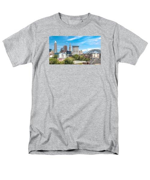 The Cleveland Skyline Men's T-Shirt  (Regular Fit) by Brent Durken