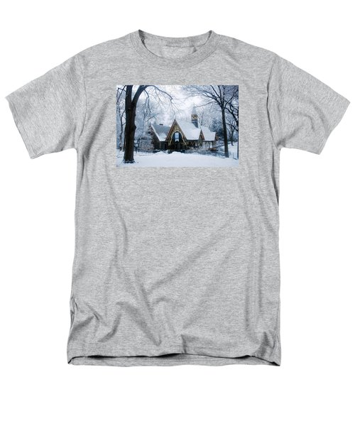 Men's T-Shirt  (Regular Fit) featuring the photograph The Dairy In Winter by James Kirkikis