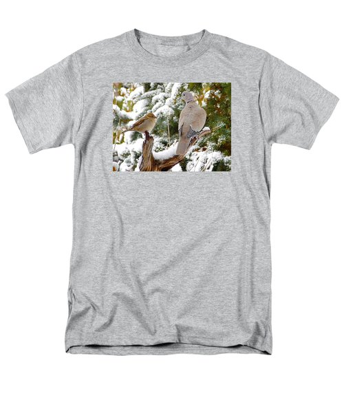 Men's T-Shirt  (Regular Fit) featuring the photograph The Dove And The Swallow by Deborah Moen