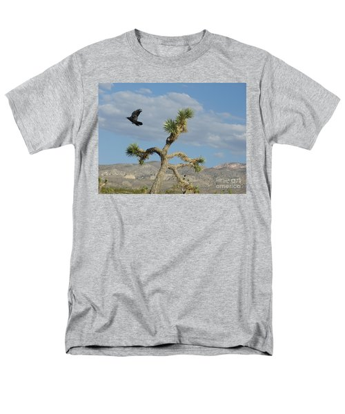 Men's T-Shirt  (Regular Fit) featuring the photograph The Flight Of Raven. Lucerne Valley. by Ausra Huntington nee Paulauskaite