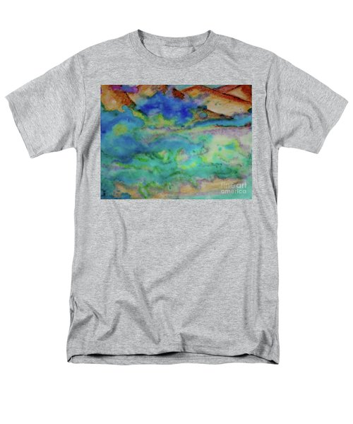 Men's T-Shirt  (Regular Fit) featuring the painting The Fog Rolls In by Kim Nelson
