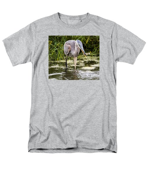 Men's T-Shirt  (Regular Fit) featuring the photograph The Great Blue Heron by Ricky L Jones