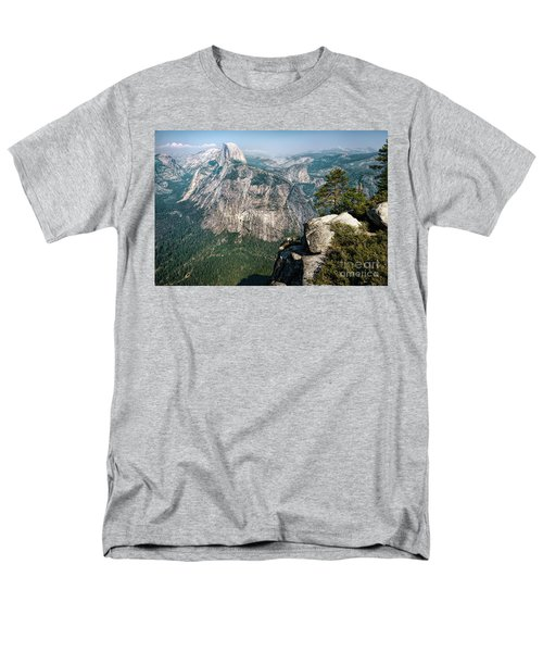 The Half Dome Yosemite Np Men's T-Shirt  (Regular Fit) by Daniel Heine