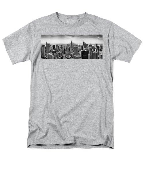 New York City Skyline Bw Men's T-Shirt  (Regular Fit) by Az Jackson
