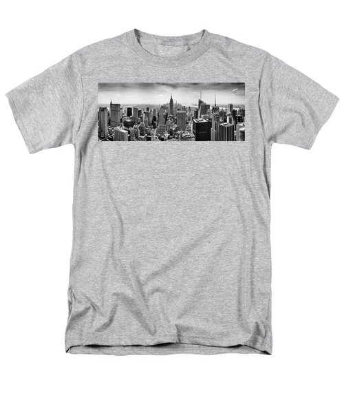 New York City Skyline Bw Men's T-Shirt  (Regular Fit)