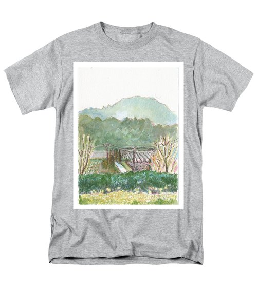 Men's T-Shirt  (Regular Fit) featuring the painting The Luberon Valley by Tilly Strauss