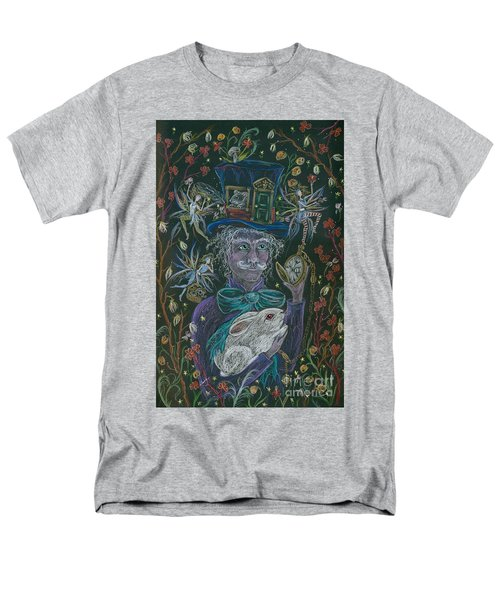 Men's T-Shirt  (Regular Fit) featuring the drawing The Maddening Hatter by Dawn Fairies