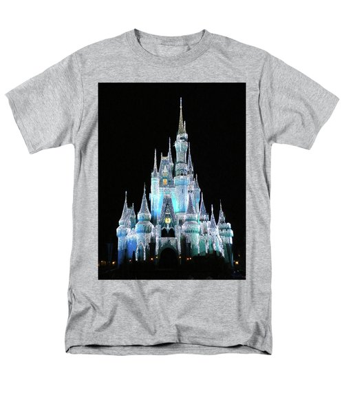 The Magic Kingdom Castle In Frosty Light Blue Walt Disney World Mp Men's T-Shirt  (Regular Fit) by Thomas Woolworth