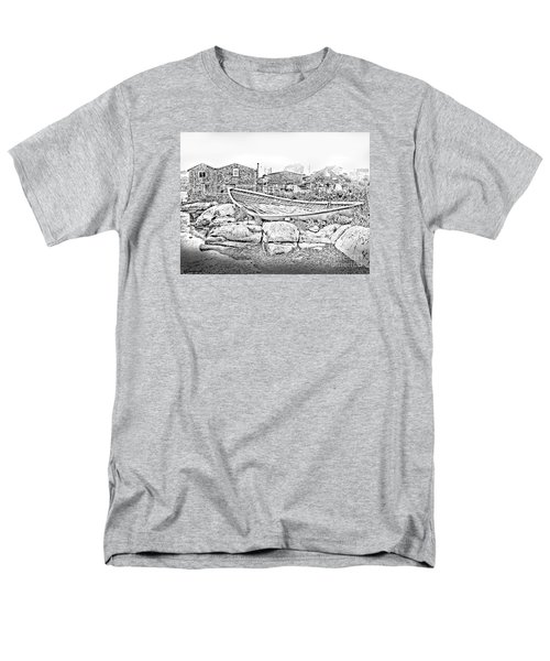 Men's T-Shirt  (Regular Fit) featuring the photograph The Old Boat At Peggy's Cove by Patricia L Davidson