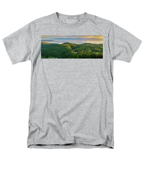The Olympics From Mt Erie Men's T-Shirt  (Regular Fit) by Ken Stanback
