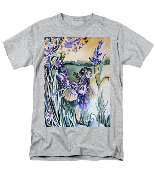 Men's T-Shirt  (Regular Fit) featuring the painting The Orchid Fairy by Mindy Newman