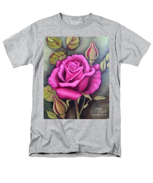 The Pink Rose Men's T-Shirt  (Regular Fit) by Inese Poga