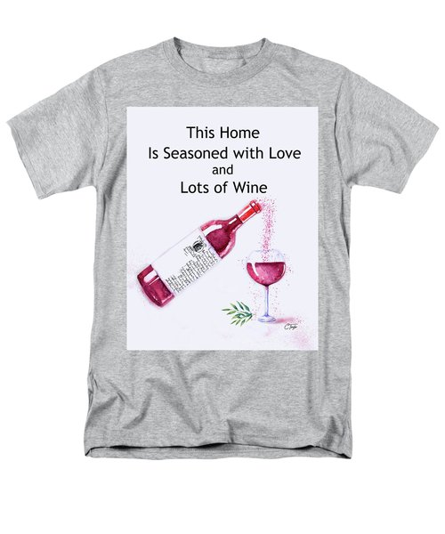 Men's T-Shirt  (Regular Fit) featuring the mixed media The Pour by Colleen Taylor
