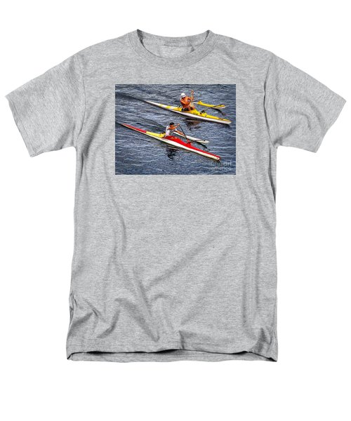 Men's T-Shirt  (Regular Fit) featuring the photograph The Race Is On by Sue Melvin