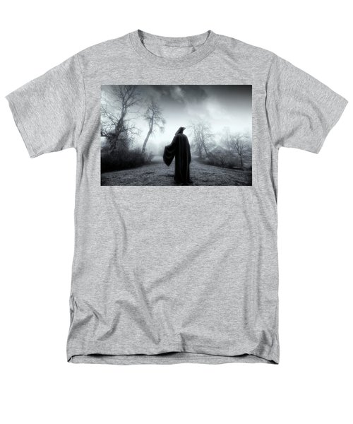 The Reaper Moving Through Mist And Fog Men's T-Shirt  (Regular Fit) by Christian Lagereek