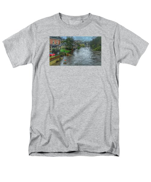 Men's T-Shirt  (Regular Fit) featuring the photograph The River Nidd In Flood At Knaresborough by RKAB Works