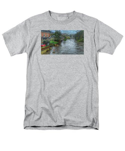 The River Nidd In Flood At Knaresborough Men's T-Shirt  (Regular Fit) by RKAB Works