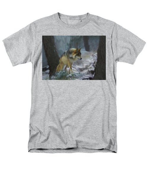 The Searching Wolf Men's T-Shirt  (Regular Fit) by Ernie Echols