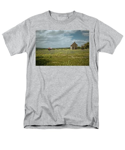 Men's T-Shirt  (Regular Fit) featuring the photograph The Stone House by Linda Unger