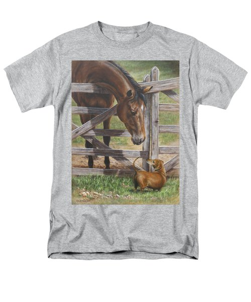 The Tall And Short Of It Men's T-Shirt  (Regular Fit) by Kim Lockman