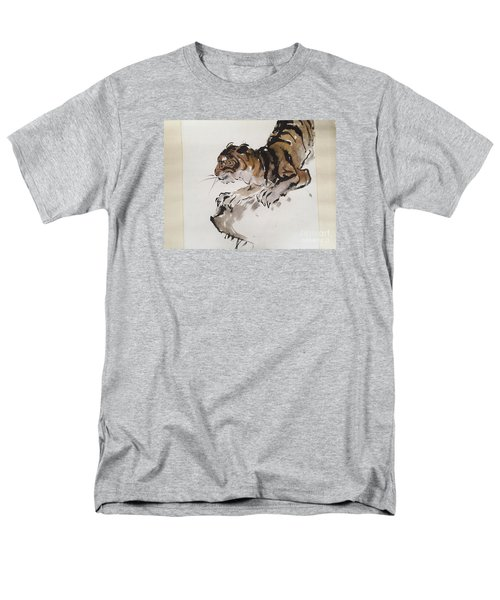 Men's T-Shirt  (Regular Fit) featuring the painting The Tiger At Rest by Fereshteh Stoecklein