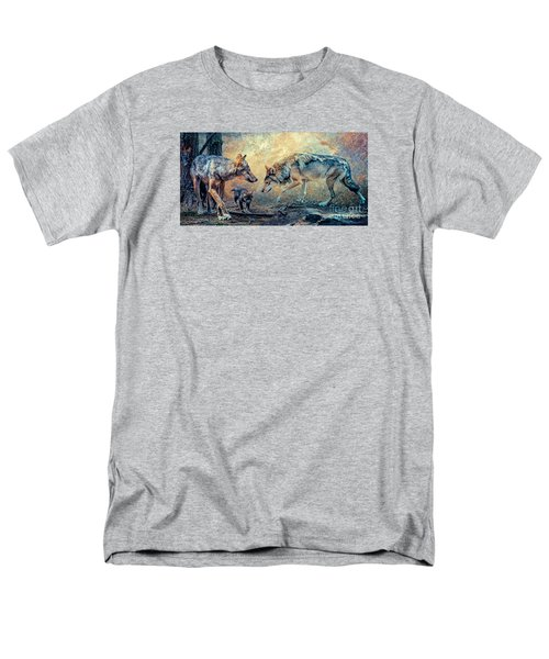 Men's T-Shirt  (Regular Fit) featuring the photograph The Wolf Family by Brian Tarr