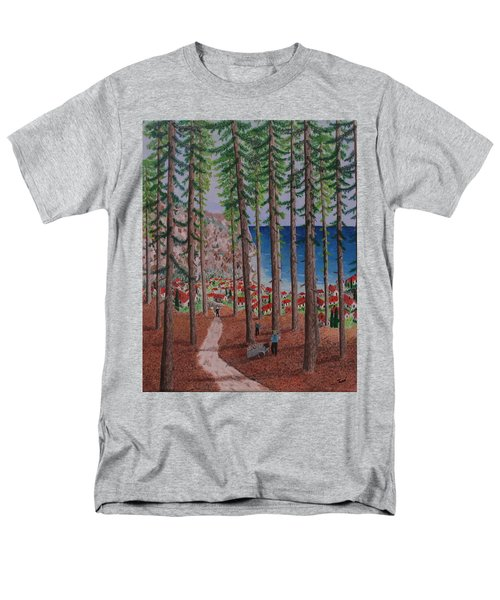 Men's T-Shirt  (Regular Fit) featuring the painting The Wood Collectors by Hilda and Jose Garrancho