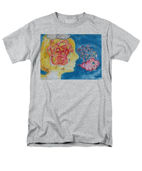 Men's T-Shirt  (Regular Fit) featuring the painting Thinking by Tilly Strauss