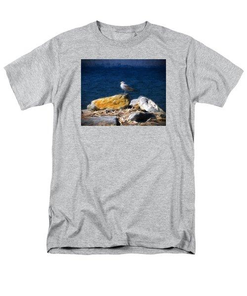 Men's T-Shirt  (Regular Fit) featuring the photograph This Gull Has Flown by John Freidenberg
