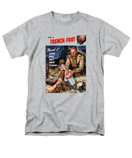 Men's T-Shirt  (Regular Fit) featuring the painting This Is Trench Foot - Prevent It by War Is Hell Store