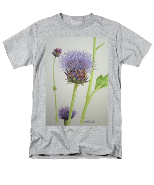 Men's T-Shirt  (Regular Fit) featuring the painting Thistles by Marna Edwards Flavell