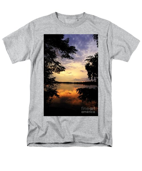 Men's T-Shirt  (Regular Fit) featuring the photograph Thomas Lake Sunset 2 by Larry Ricker