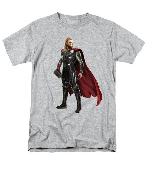 Men's T-Shirt  (Regular Fit) featuring the mixed media Thor Splash Super Hero Series by Movie Poster Prints