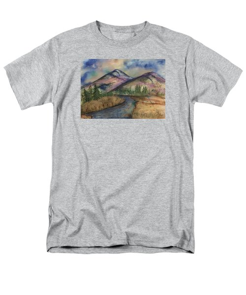 Men's T-Shirt  (Regular Fit) featuring the painting Thoughts Of Glacier by Annette Berglund