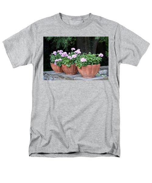 Men's T-Shirt  (Regular Fit) featuring the photograph Three Flower Pots by Deborah  Crew-Johnson